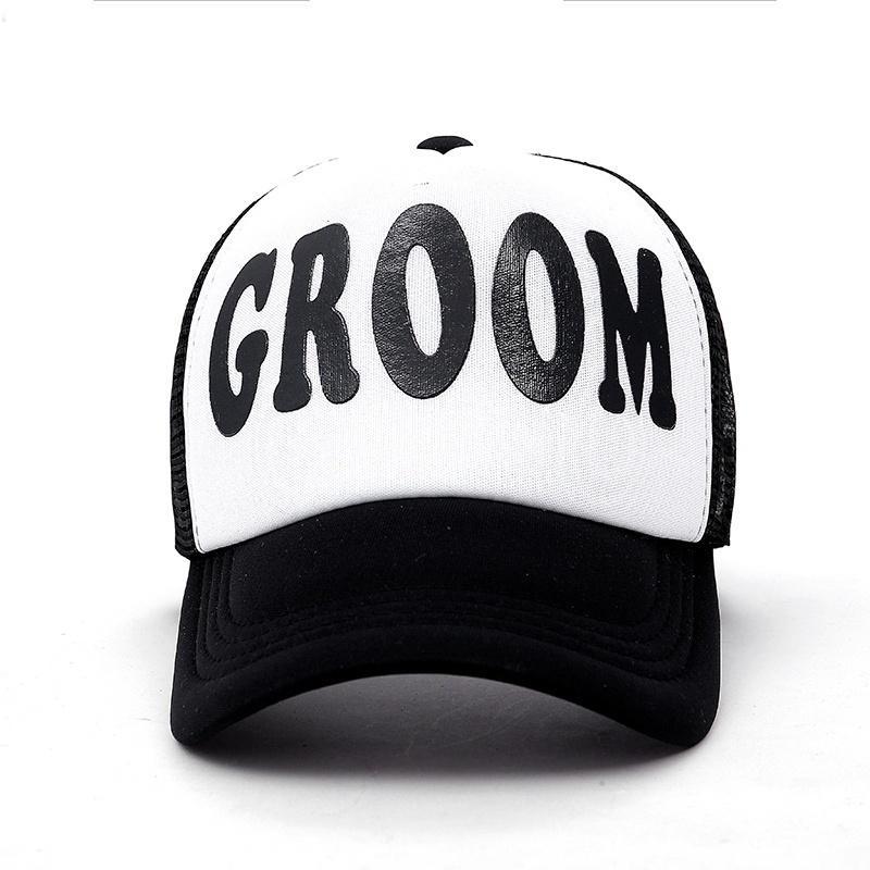 Groom Embroidered Flat Visor Snapback Hat