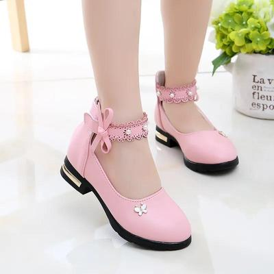 Girls' Princess Leather Shoes In Spring and Summer Little Girls' Non Slip Soft Sole Performance Shoes Children's Single Shoes