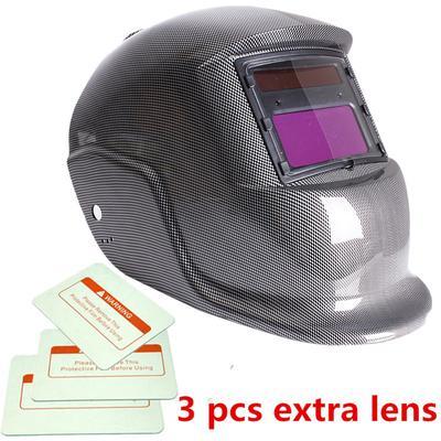 XTRM AUTO DARKENING WELDING HELMET Hi-Tech Grinding CE Approved Solar Power Function Professional Protective Gear Welding Tig Mig Arc Welders Mask Helmet Blue Lens