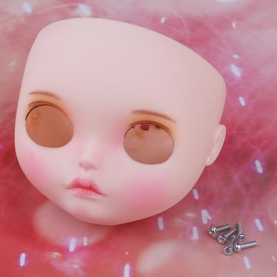 "1PC  Blythe Faceplate White and pink skin for RBL 12/"" Neo Blythe Doll"