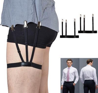 Shirt Stays Holders Elastic Garter Belt Suspender Locking Clamps for men /& women