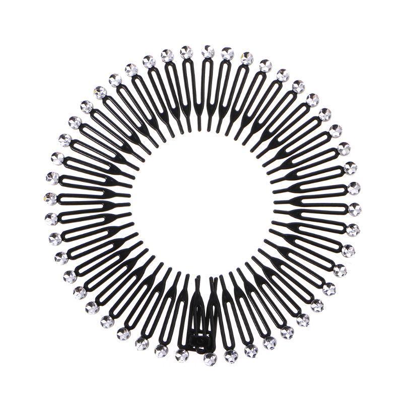 5pcs Fashion Simple Women/'s Black Metal 25 Teeth Hair Comb Clip