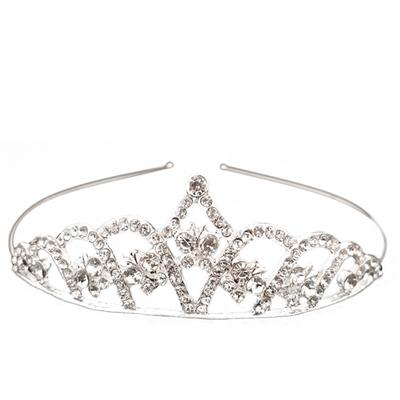 1PC Woman Rhinestone Tiara Crowns Elegant Bridal Princess Wedding Hair  Accessories Headpieces Tiara 05661d6d9616