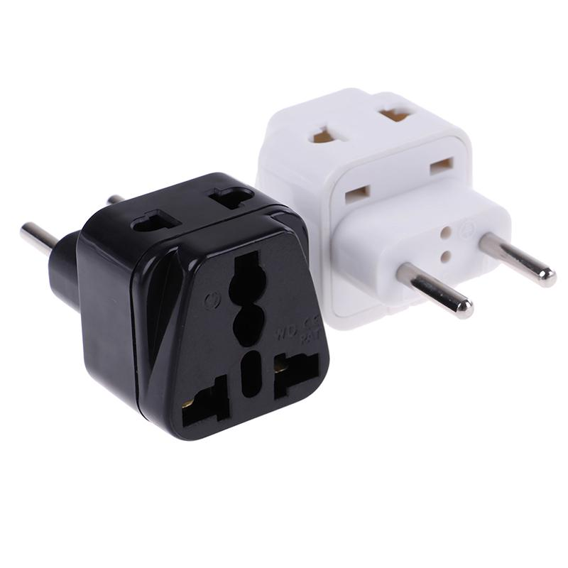 5Pcs Plug Power Adapter US AU IT BR To EU KR EUR German AC Travel Converter