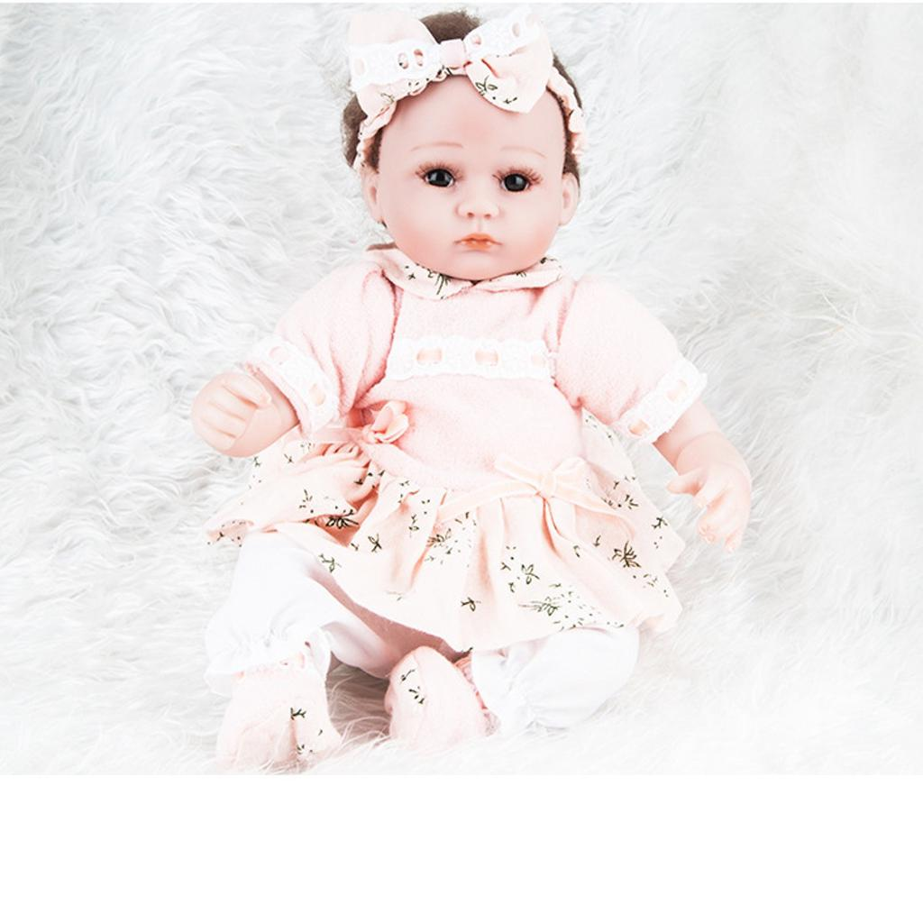 Adorable Reborn Dolls 18 inch Newborn Baby Girls Dolls Lifelike Silicone Bebe