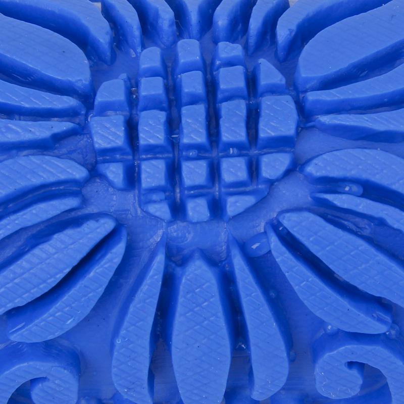 Decoraci/ón 15cm De La Pared Patr/ón De Flores Empaistic Pintura Rodillo Para La M/áquina De La Decoraci/ón De Bricolaje Azul