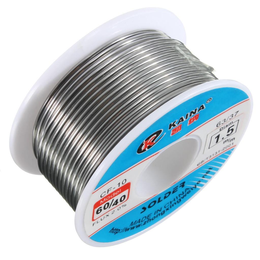 1.5mm 60/40 2% Tin Lead Solder Wire HQ Flux Multi Rosin Cored Solder ...