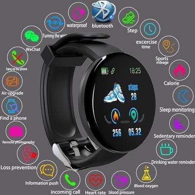 D18S Smart Band Sport Smart Watch Waterproof Blood Pressure Fitness Tracker Smartband Fitness Bracelet for Men Women