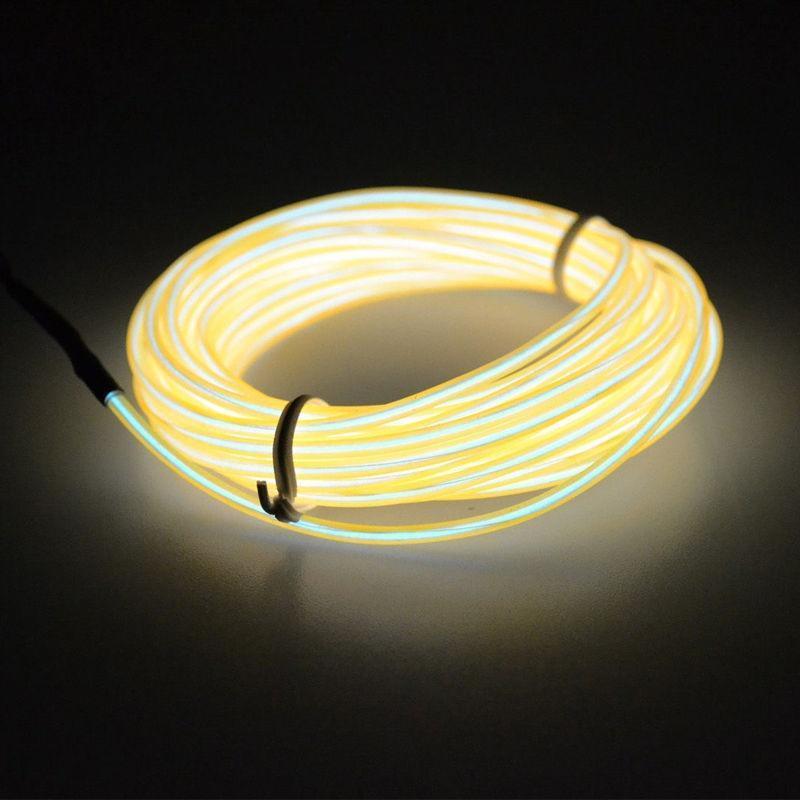 1M 2M 3M 4M 5M 10 Farben Flexible EL Wire Neon Glow Light 12V ...
