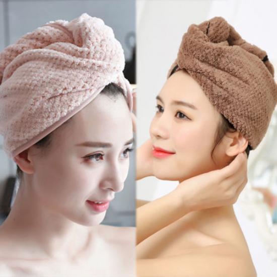 1PC Kids Cartoon Hair Turban Quick Dry Hair Hat Towel Bath Cap Headwear Cute