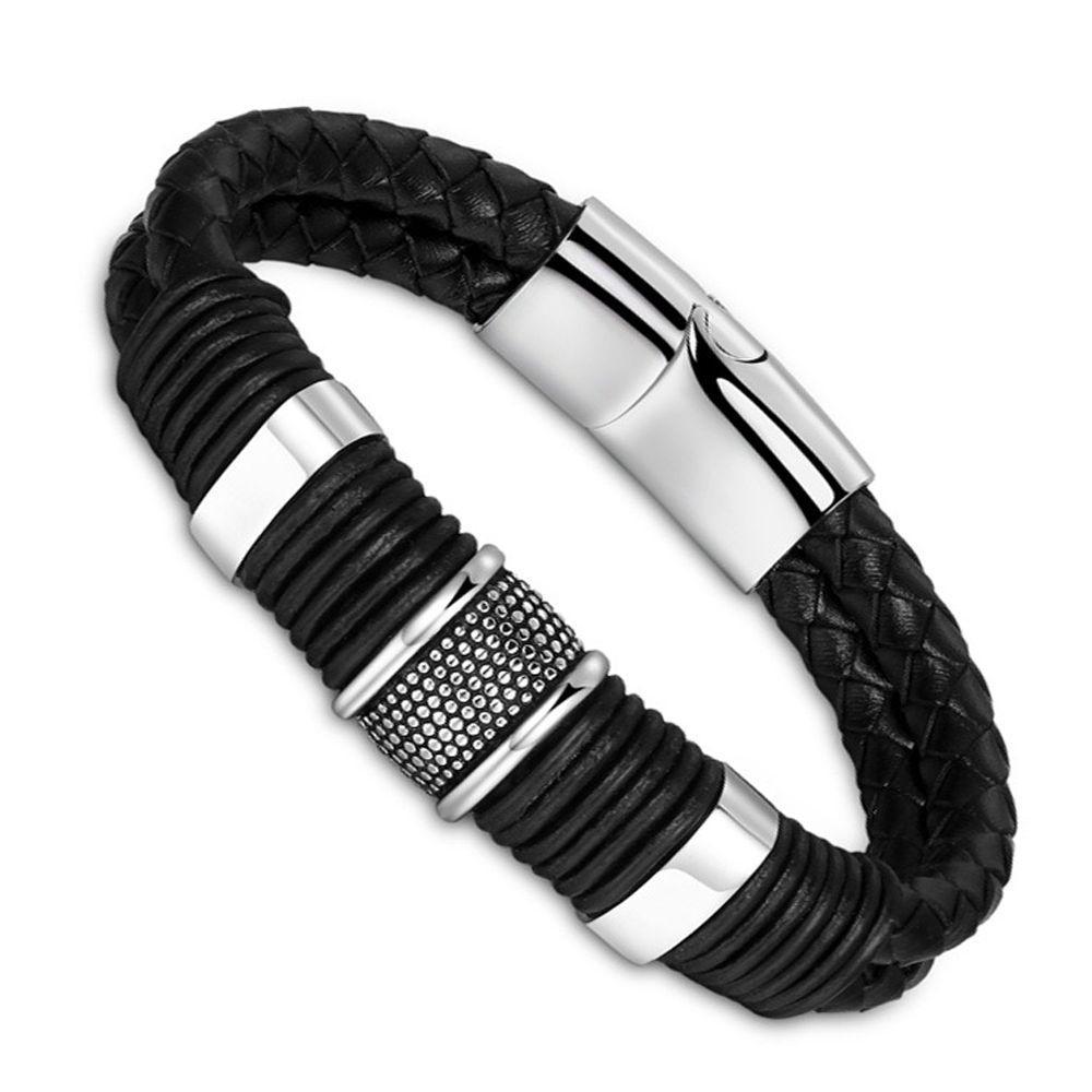 Punk Style fermoirs boucles en acier inoxydable fermoir pour bricolage bracelet simili cuir 1pcs