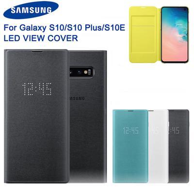 Original LED View Cover For Samsung Galaxy S10 X SM-G9730 S10+ S10 Plus SM-G9750 S10e S10 E SM-G9700
