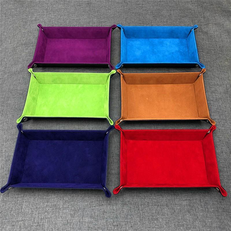PU Leather Storage Trays Decor Trays for Key Wallet  Makeup Desktop Storage Box