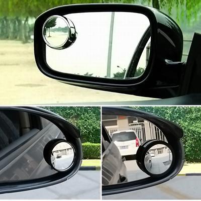 2pc Convex Blind Spot Mirror 360/°Angle Adjustable Self Adhesive Rare View Towing Reversing Driving Car Van Bikes