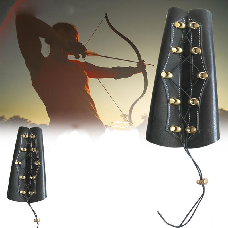 New Leather Archery Wrist Arm Guard Compound Recurve Bow Arm Protection Bracer