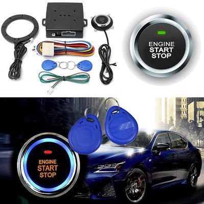 Car Ignition Switch 12V RFID Car Engine Push Button Start Keyless Starter Kits