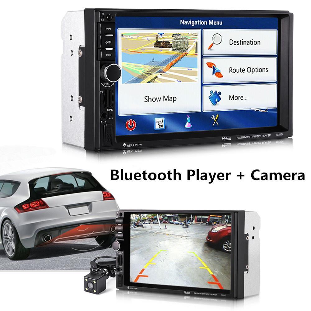 """7021G 7/"""" Bluetooth FM Radio GPS 800*480 HD Car MP5 Player Bluetooth European Map"""