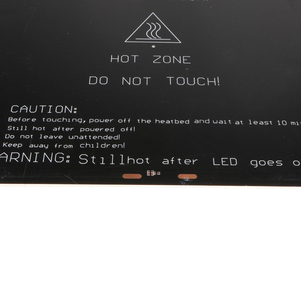 Magideal 300*300*3mm MK3 Aluminum Heated Bed Hot Bed Platform for 3D Printer