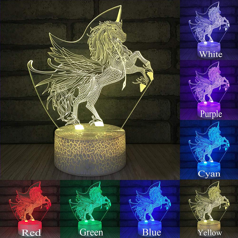3D LED Night Light Eevee Touch Swift Table Desk Bed Lamp Kids Animation Gifts