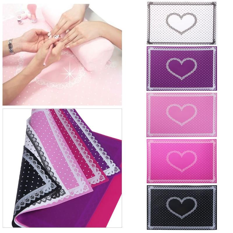 Silicone Mat Nail Art Salon Foldable Nail Art Manicure Practice Tools Silicone Lace Hand Cushion Holder Pad Mat Arm Rest Pillow Tools & Accessories