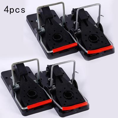4 Pcs Plastic Mouse Traps Premium 5 CM X 10 CM Snap Mice Trap Catcher New