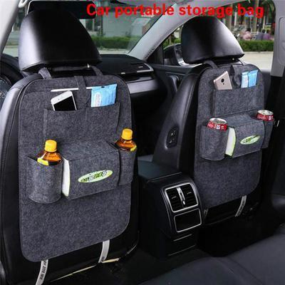 Multi Pocket Car Seat Tidy Storage Organiser Boot Tissue Dispenser Non Slip