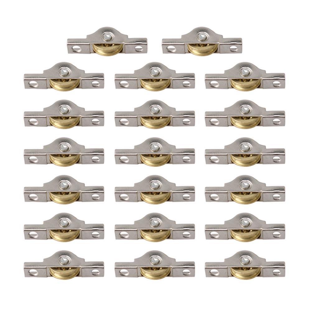 4Pcs Roulette Coulissante Roue de porte Grange Placard Armoire Quincaillerie Cabinet Fen/être Poulie Coulissante