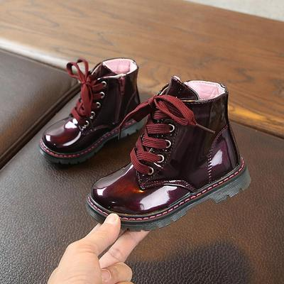 Kids Boots Winter Leather Snow For Girls Boys Casual Plush Child Shoes