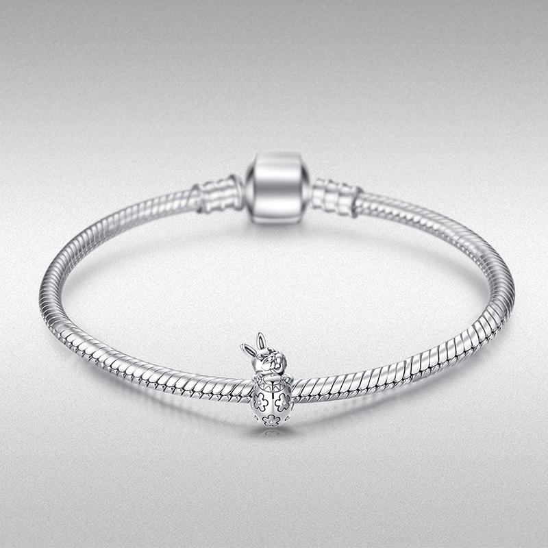 Girls Silver Ladybug Bangle With or Without Daisy Charm Up To 5 1//4 inches
