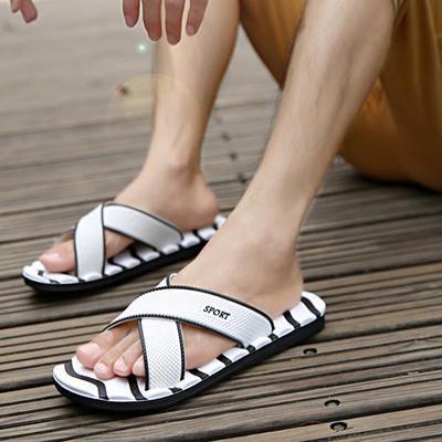 Mens Flip Flops Sport Thong Sandals for Outdoor Beach Anti Skidding Pinch Slipper