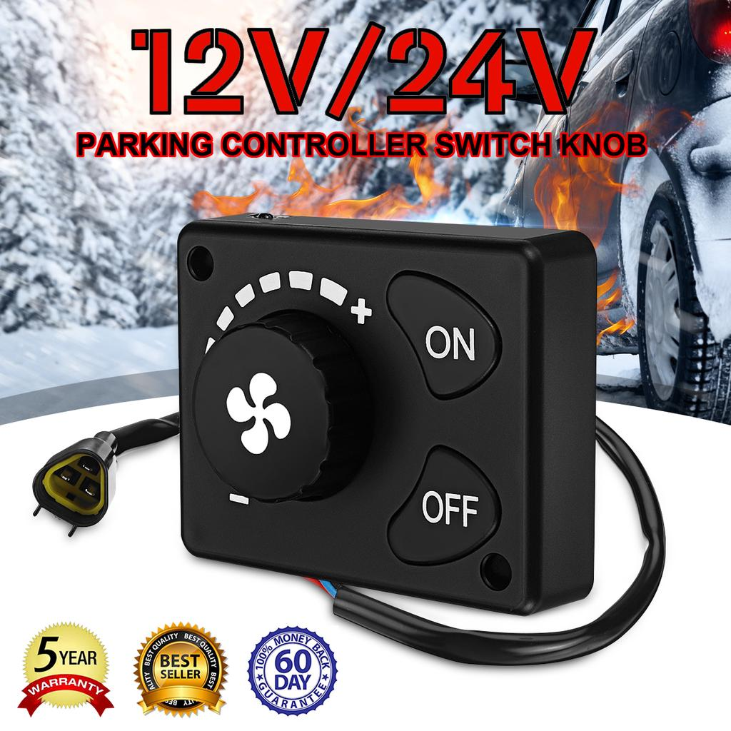 12//24V Controller Switch Knob Adjusts Air Volume Adapter  For Car Parking Heater