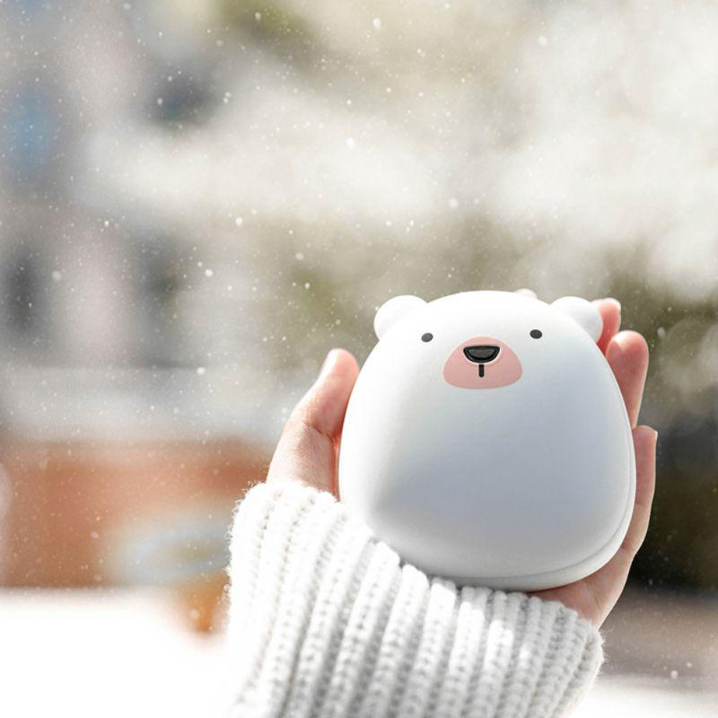 Cute Handwarmer Mini Hand Warmers for Girls Termofor Gumowy Portable Pocket Power Bank 6000mAh Battery Rechargeable Stove Hand Warmers 