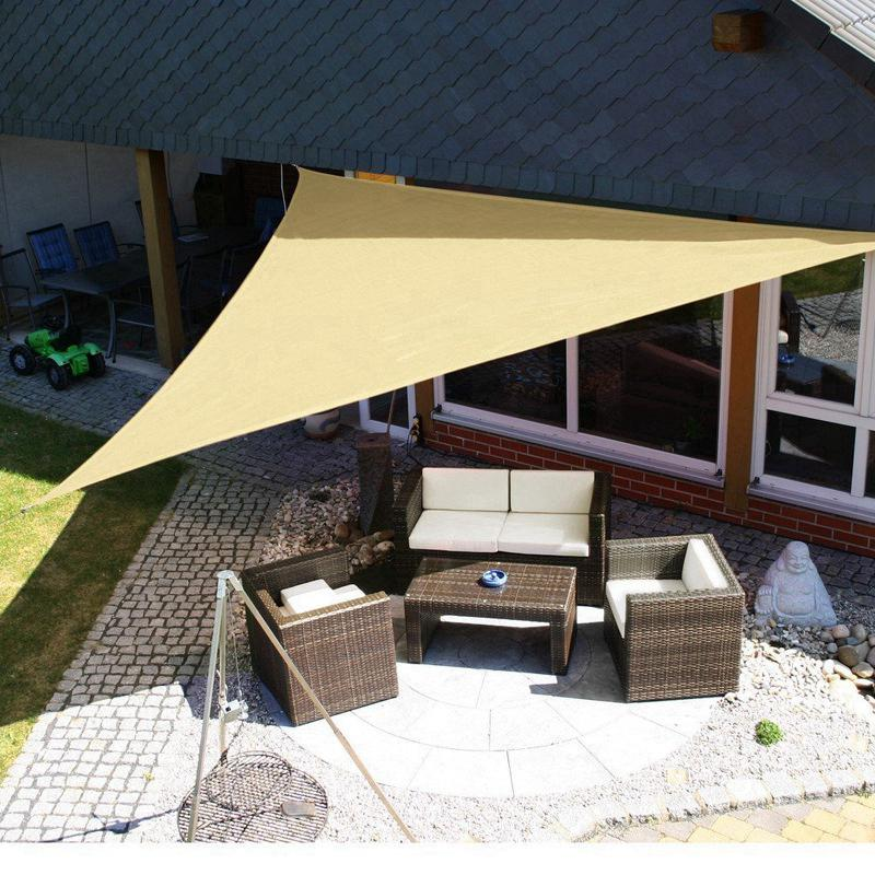 3x3x3m Army Green Triangle Sun Shelter Sunshade Outdoor Canopy Garden Patio Awning Picnic Tent