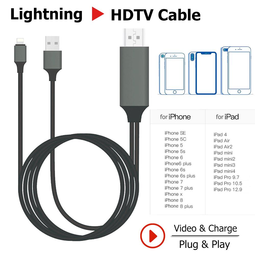 iPhone HDMI Cables Adapter 3 Feet Metal 3 in 1 Smartphone to HDMI//Micro USB//TYPE C Adapter for iPhone//iPad//S9//S8//Note 8 and More Lightning to HDMI 1080P Digital AV Adapter S7 HDMI Cable to TV