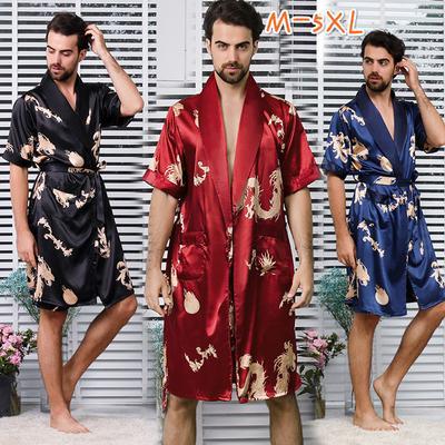 e43f6edd90c02c Koszula nocna z jedwabiu Koszula nocna z krótkim rękawem Piżama szlafrok  Piżama nocna Kimono Nocna koszula
