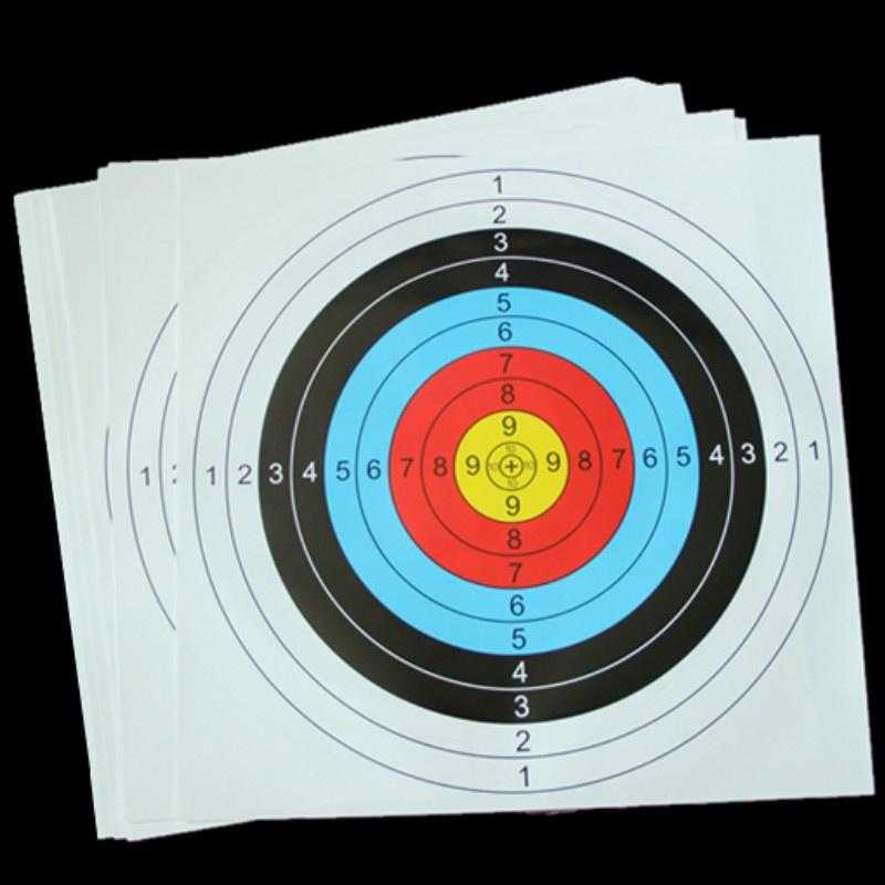 20PCS Shooting Training Target Paper Archery Practice Air Rifle Pistol Airsoft Gun – buy at low prices in the Joom online store
