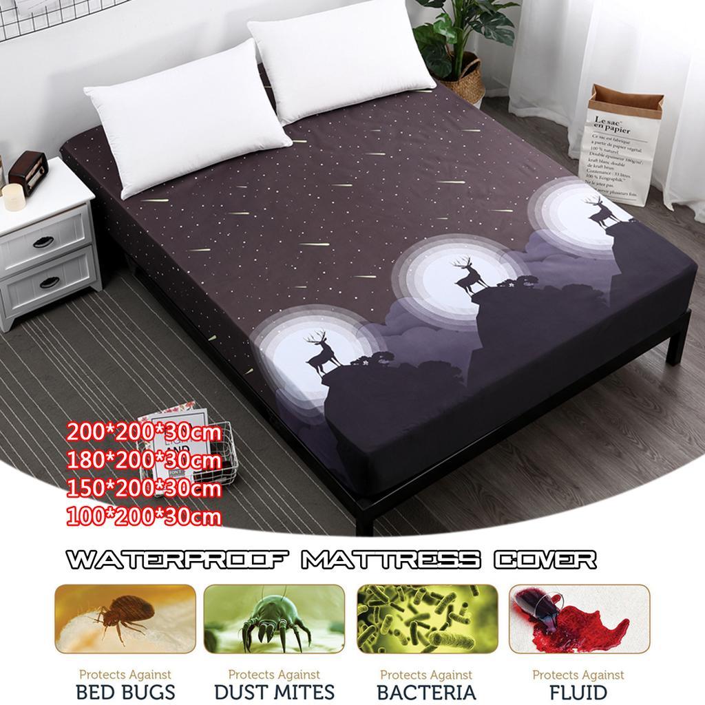 180x200 Waterproof Mattress Cover Mattress protector mattress protector 100/% Elastic