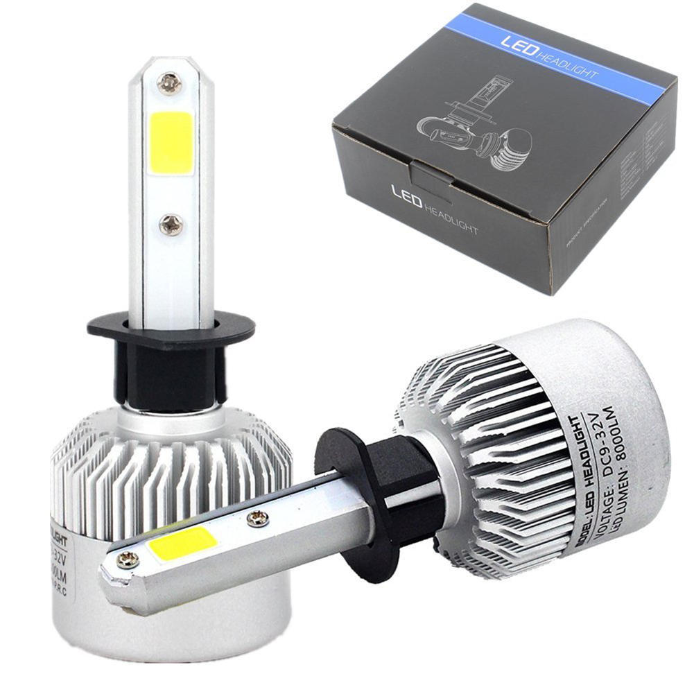 1PCS H8//H11 COB LED Headlight Kit 72W 8000LM Car Fog Light Lamp Bulb White 6500