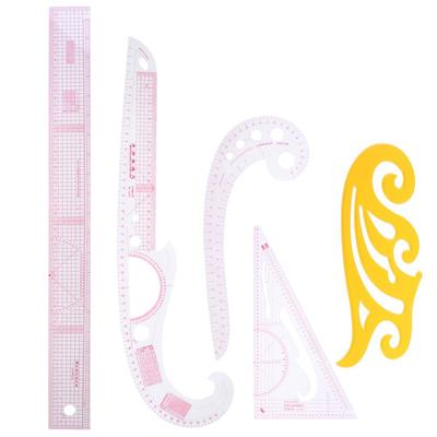 Styling design plastic ruler 3 in 1 french hip straight curve comma ruler toolDL