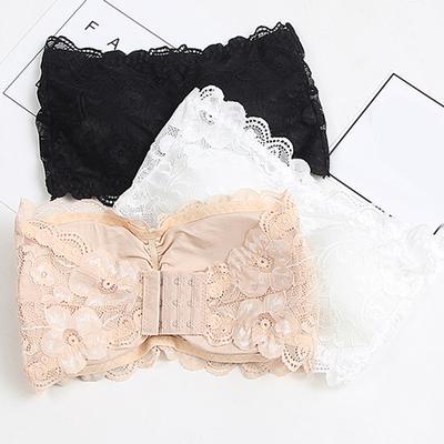 Women Brassiere Lace Bra Tube Top Wrapped Chest Tank Top Underwear Crop  xnH~jp