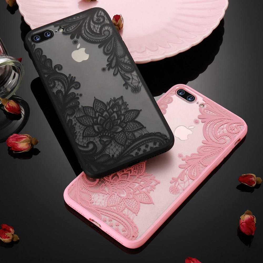 Acylic кружева цветы полые ТПУ и телефона чехол для iPhone 7 7 плюс 6 6S плюс 5 5s SE фото