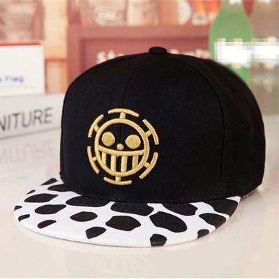 Anime One Piece Trafalgar Law señal cráneo cabeza béisbol Gorras sombrero  Cosplay sombreros f3026745f8a