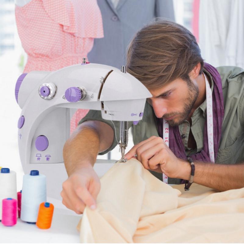 Портативный моды мини-электрическая швейная машина Сверхмощный электрическая швейная машина 2 скорость регулируемая