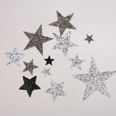 Cute Star Design Hotfix Rhinestone Motif Iron On Patches Applique for Heat Transfer