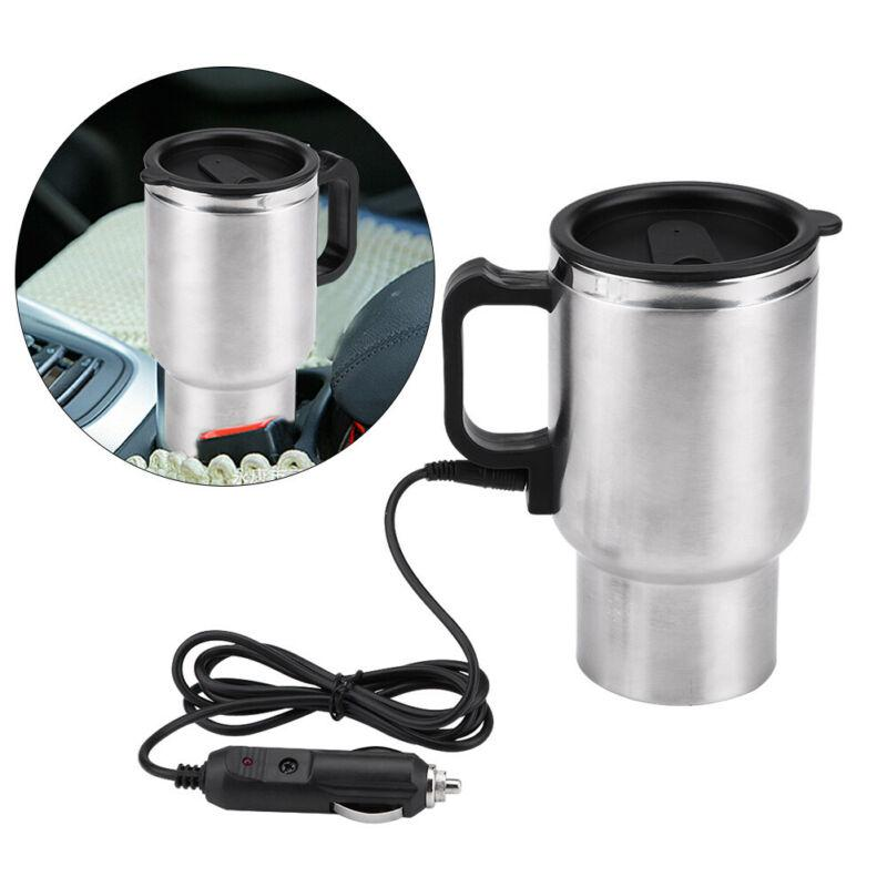 500ML Car Insulated Heating Stainless Cup Kettle 12V Travel Coffee Heated Mug