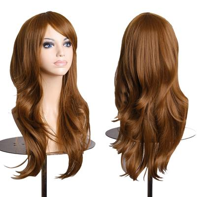 Women's Cosplay Curly Wigs With Bangs Long Curly Hair Fluffy Curly Hair