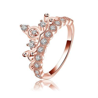 2c08d346164a Amantes de lujo la moda 2018 allanan corona Cz anillo compromiso boda dedo  joyas regalo