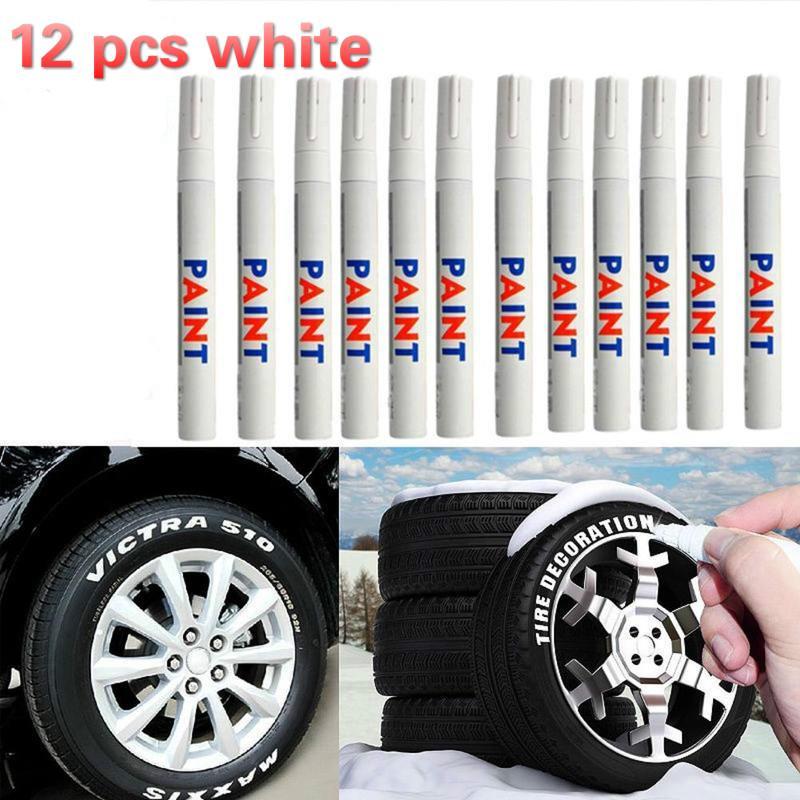 12 шт / 1 pc водонепроницаемый постоянного краска автомобиля шин Tire протектора краска фломастеров – купить по низким ценам в интернет-магазине Joom