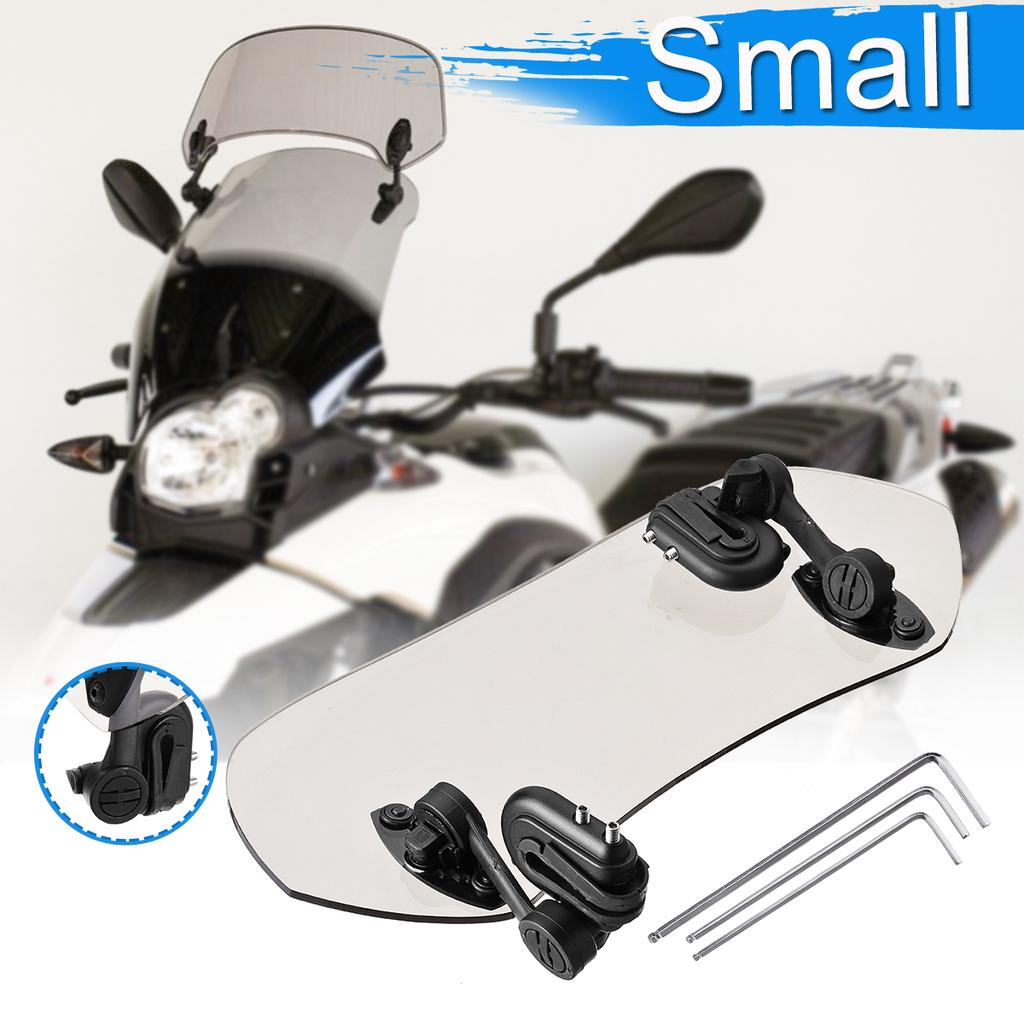 White SODIAL Adjustable Clip on Windshield Extension Spoiler Wind Deflector for Motorcycle