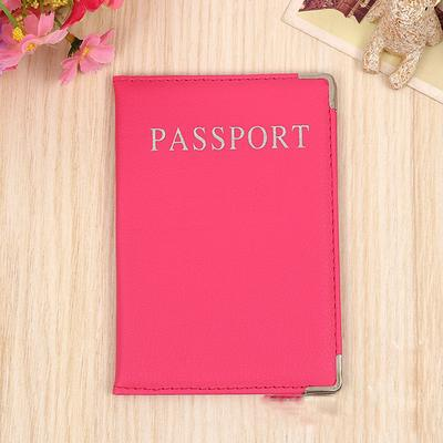 Beautiful Watercolor Pink Flowers Blocking Print Passport Holder Cover Case Travel Luggage Passport Wallet Card Holder Made With Leather For Men Women Kids Family